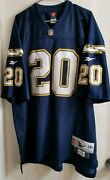 Reebok Classic Throwbacks San Diego Chargers Nfl Means 20 Jersey Menand039s Xxl 2xl