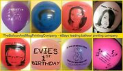Custom Printed Balloons - Helium Latex Personalised Any Text And Logo Or Design