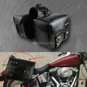 2pc Motorcycle Saddle Bag Bike Side Storage Fork Tool Pouch Fit For Harley Xl883