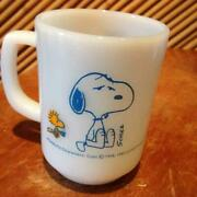 Fire King Snoopy Peanut Coffee Mug Vintage 60s 70s Anchor Hocking Made In Usa Fs