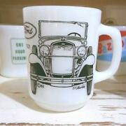 Fire King Mug Cup Ford A Roadster Rare 9 Oz Logo Vintage Genuine Made In Usa F/s
