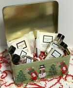 Christmas Tins W/ Beekman 1802 Fresh Air Soaps And Lotions 4 Styles And 2 Sizes New