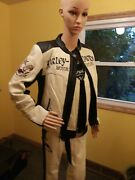 Womenand039s Harley Davidson Nirvana 2 In 1 Offwhite Leather Jacket Sm Vest And Chaps