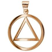 Large Aa Sobriety Charm In 18k Pink Rose Gold