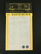 Cds Lettering Dry Transfers Ho Scale 324 Gn 50and039 Dbl Door Boxcar - Nos Vtg 80s