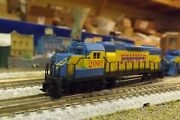 Fort Worth And Western Gp-38 Engine 2001 Niles City N-scale Custom Painted