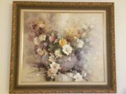 Oil On Canvas Paintings Flowers/ Original Painting, Signed