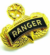 Airborne Master Jump Wing Ranger Gold Plated Us Army Military Insignia Badge Pin