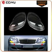 2x Headlight Lens Cover Headlamp Left Right Fit For 1998-2006 Benz W220