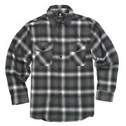 Yago Menand039s Casual Plaid Flannel Long Sleeve Button Up Shirt Gray/4d S-5xl