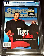 2000 Tiger Woods Sports Illustrated Tiger Rules Newsstand Cgc 9.8 Pop 1 1/1