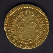 Colombia. 1797-p Jf Gold Escudo.. Popayan Mint.. Gvf - Part Lustre