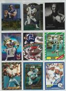 Warren Moon Odd Ball Lot Of 18 Nfl Football Trading Cards Inserts + Early Cards
