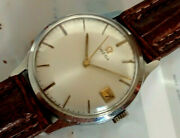 1960s Antique Omega Seamaster Stainless Steel Watch Cal. 610 Dial Nice Gents