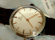 1960s Antique Omega Seamaster Stainless Steel Watch Cal. 600 Dial Nice Gents