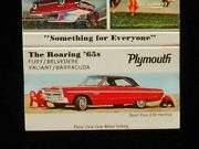 1965 Plymouth Fury Belvedere Valiant Barracuda Automobiles Something Matchbook