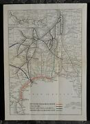 1910 St. Louis And San Francisco Railroad Frisco Rr System Map Springfield Mo