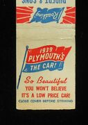 1939 Plymouth Roadking Deluxe Rudert And Son Phone 771 Cape Girardeau Mo Matchbook