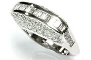 2.7 Ctw Natural Diamond Si Solid 14k White Gold High Profile Statement Ring