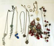 Mixed Lot Costume Jewellery X 13 Items Necklaces Earrings Rings Lot 1
