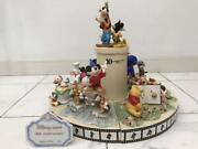 Disney Store 10th Anniversary Figure Set 8 Piece Pottery Mickey Mouse Minnie F/s