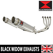Kawasaki Z900rs And Cafe 4-2 De-cat Race Exhaust System + Mufflers Round Sg35r