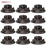 12 Pack 4 Recessed Can Light Trim With Oil Rubbed Bronze Step Baffle