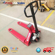 Op-918p-2500 Pallet Jack Scale 2500 Lb With Printer 80 Hour Battery Life