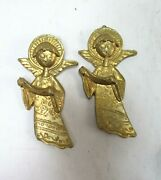 Vintage Christmas Italy Gold Angel Ornaments Decorations