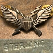 Rare Sterling Silver Ww2 11th Airborne Air Assault Mobile Badge Pin Vietnam