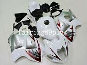 White Silver Red Abs Injection Fairing Kit Fit For Hayabusa 1997-2007 Gsxr1300