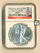 San Francisco Mint 2011s Eagle Silver 1 Dollar Coinearly Releases Ngc- Ms69