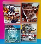 Bulletstorm Soldier Fortune Mag Ghost Recon Ps3 Sony Playstation 3 4 Game Lot