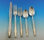 Rapallo By Lunt Sterling Silver Flatware Service For 8 Set 45 Pieces Vintage
