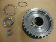 32 Tooth Transmission Drive Pulley W/ Lock Plate Kit Steel Early Big Dog Harley