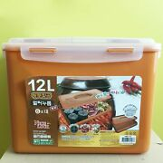 12 Liter Bpa Free Red Clay Vacuum Kimchi Fermentation Food Container