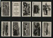 Tobacco Cigarette Cards Set Military Weapons 1938 Monoplane Bomberflying Boat