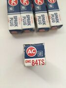 5 Nos Ac 84ts Fire Ring Spark Plugs Classic Gm Muscle Cars Old Stock Usa