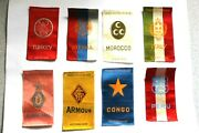 Lot Of Eight 8 Nation Country Cigarette Tobacco Silk Premiums