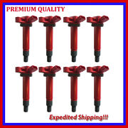 8pc Jto277r Ignition Coil For 2005 2006 2007 2008 2009 Toyota Tundra 4.7l V8
