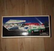 1996 Hess Emergency Truck Gasoline Flashers Light Horn Rescue New In Box Sealed.