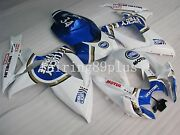 Blue Lucky Strike Abs Injection Fairing Kit Fit For 2006 2007 Gsxr600 Gsxr750