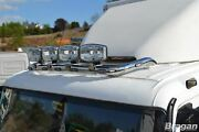 To Fit Foden Alpha Low Cab Roof Light Bar B + Clamps + Leds Same As Daf Cf