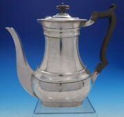 William Hutton And Sons Estate English Silver Tea Pot With Wood Handle 4249