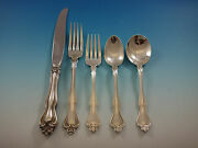 George And Martha By Westmorland Sterling Silver Flatware Set Service 30 Pcs