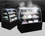 220v Refrigerated Cake Showcase Commercial Display Cabinet Cold Light 3 Layer