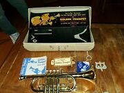 Vintage Emenee Toys The Golden Trumpet Toy Instrument Carrying Case Euc Complete