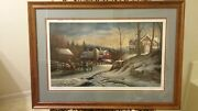 """Terry Redlin Limited Edition """"coming Home"""" Ap 46/240 Signed Framed - Rare"""