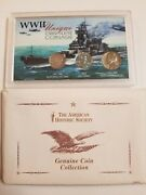 Vtg World War Ii Obsolete Coinage Collection Set Coins Of Ww Ii Rare Free Sandh
