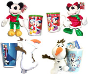 Disney Christmas Minnie Mouse Mickey Frozen Olaf Mug And Plush Toy New